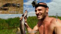 德哥这次设置的捕鱼陷阱好成功啊,捉到2条大鲶鱼,吃得真开心!