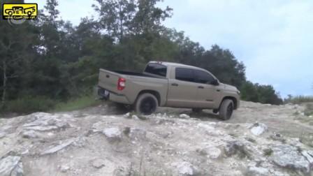 看看丰田坦途在崎岖环境下的性能!