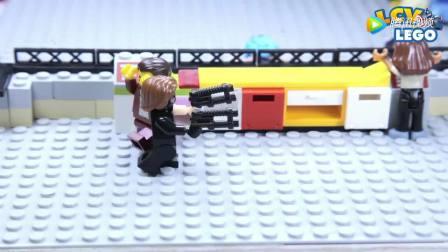 乐高定格动画: 劫匪去银行抢刚出土的宝物,幸亏钢铁侠及时赶到