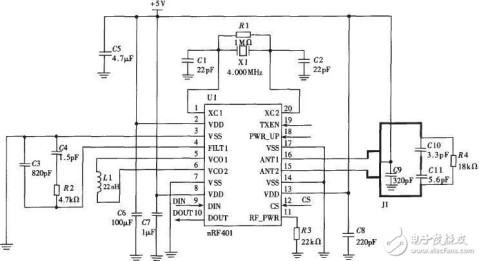 nrf52832语音电路图