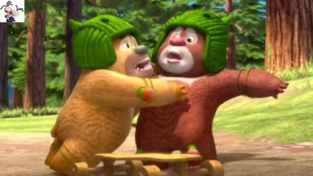 萌萌的小时候的光头强和熊大 熊出没之丛林总动员 强