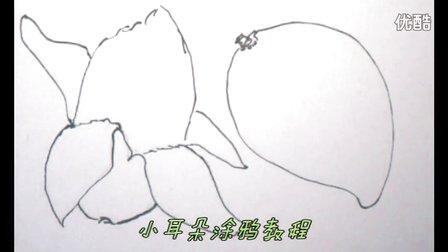 画芒果,儿童简笔画教学视频,怎样教幼儿画画最简单,乐