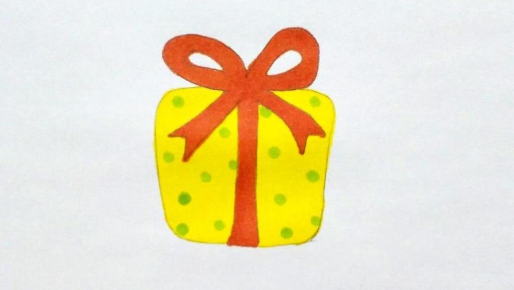 讲解 打开 宝宝爱画画第八十七课 可爱礼物盒简笔画步骤,新年礼物盒简