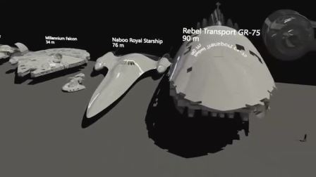 打开 打开 星球大战中的飞船展示与大小 打开 星球大战的视觉效果