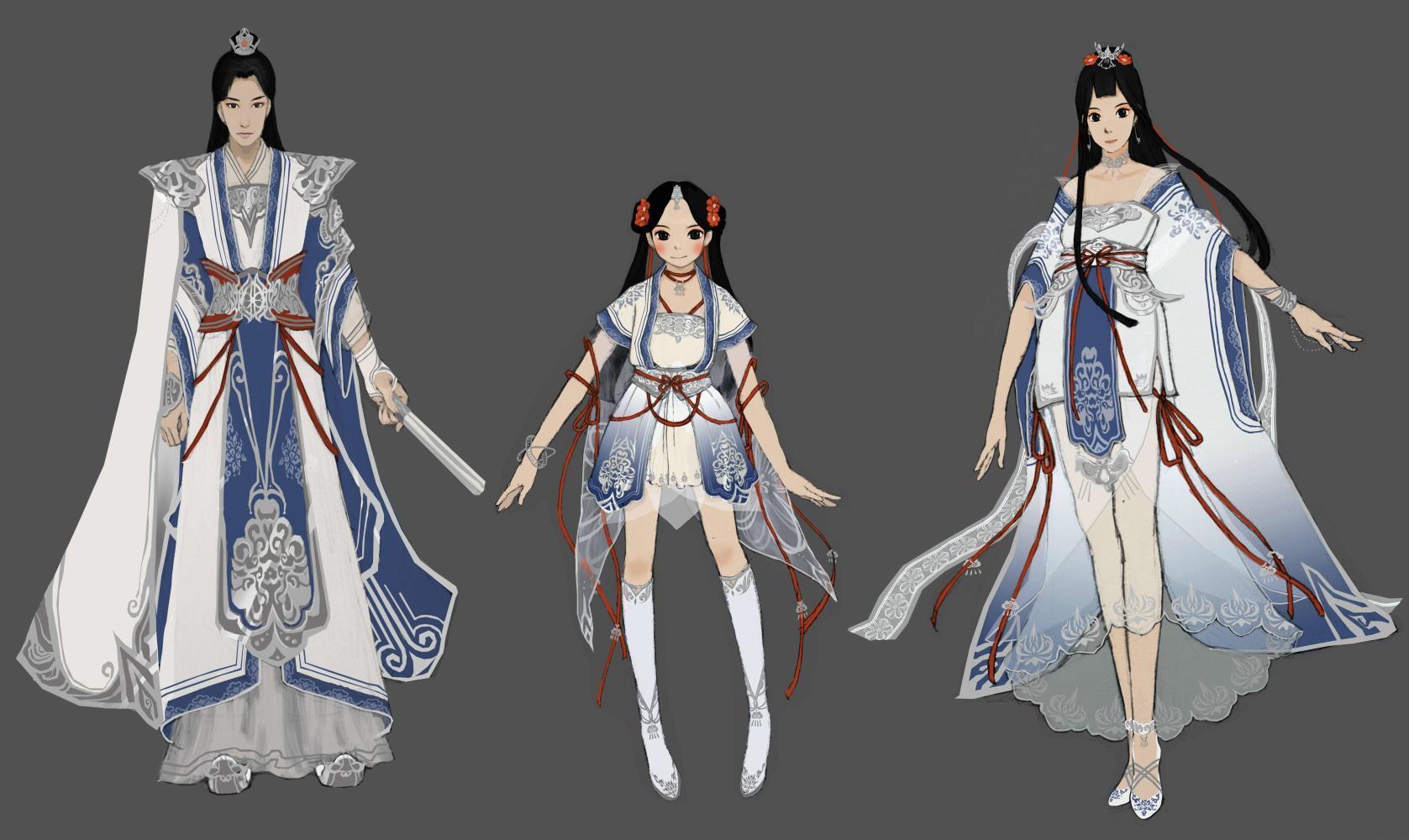 天涯明月刀2017时装设计欣赏第三期 本期主题轻纱, 仙