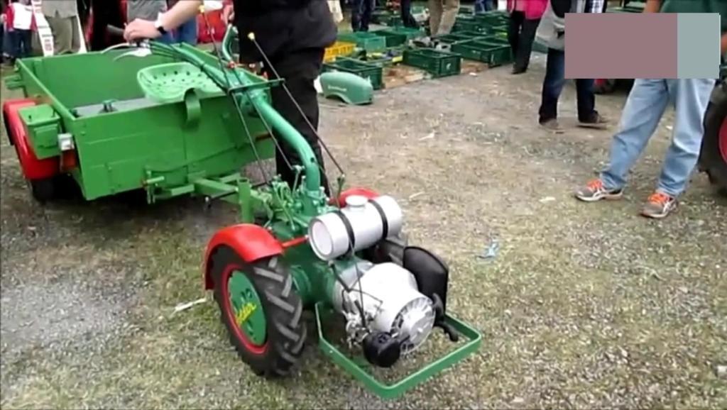 装了转子发动机的手扶拖拉机你见过吗?这声音太拉风了