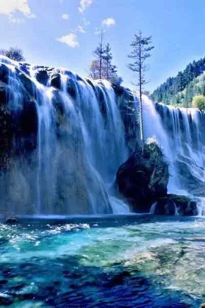 壁纸 风景 旅游 瀑布 山水 桌面 400_600 竖版 竖屏 手机
