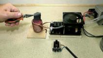 技术宅自制简感应加热器,不仅能熔化金属,还能无线传输电能!