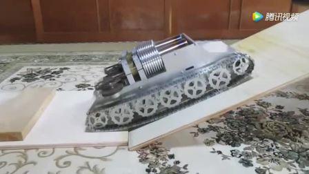 双缸斯特林引擎重型坦克爬坡测试