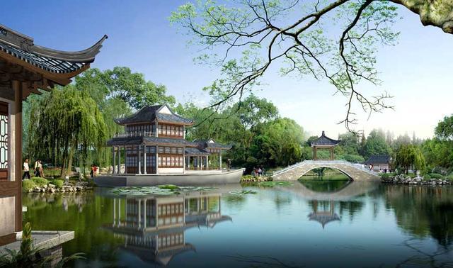 这是典型的江南古典园林之美.