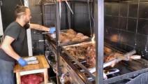 伦敦烤肉店大块切肉,这店在中国肯定被投诉