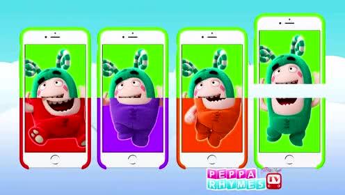 益智动画色彩早教 苹果手机屏保夺宝萌兵图案拼接学习颜色