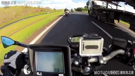 实拍重机街头飙车 时速爆表-摩托车之家