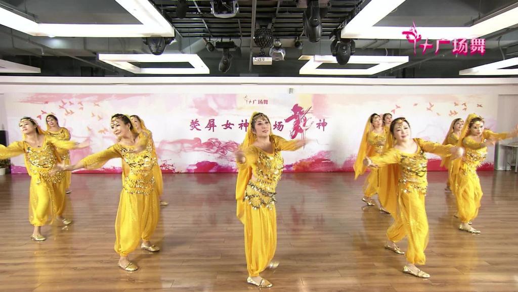印度风情肚皮舞��.d_谢春燕广场舞 2015肚皮舞之一 放松舞蹈