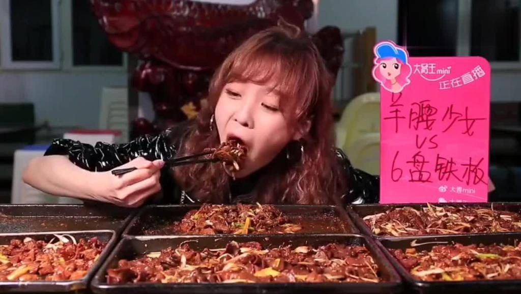 8大盘铁板牛肉,大胃王mini一次性吃这么多,真能吃!