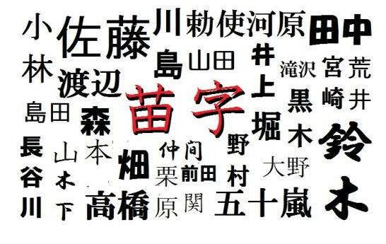 日本姓氏_求好听的日本姓氏!!!!_