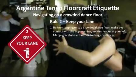 阿根廷探戈 3个关于Floorcraft的指引