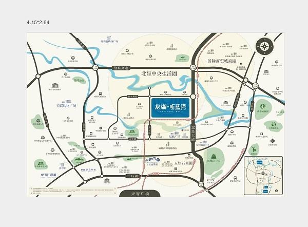 (北星大道、金丰高架、方元路)、地铁5号线的立体交通网络,距高清图片