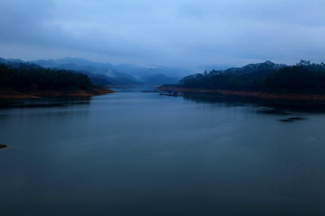 玉林水库风景高清照片