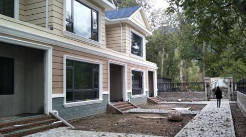 保定农村不用一块砖头建轻钢别墅 500平观山联体别墅建房全过程