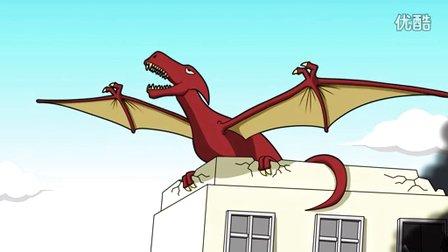 原创动画《外星兄弟》第11集: 恐龙大战魔龙!