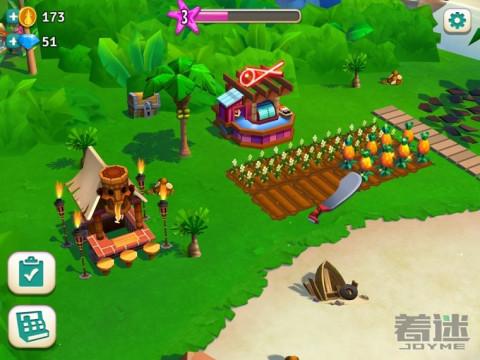 开心农场热带度假安卓版本更新了为什么就没有进度了?