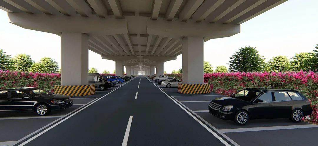 将成为厚街首个桥下空间停车场,动工了