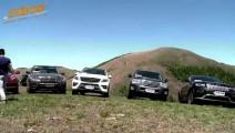 七台百万级SUV挑战好汉坡,奥迪Q7惨遭爆胎,丰田陆巡一马平川,宝马X5狼狈不堪
