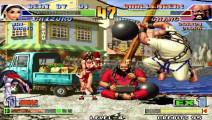 拳皇98combo 这个陈可汗的连招飞天 都快飞出屏幕外了