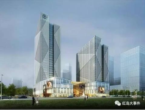 红岛将建青岛第一高楼? 390米双子塔超海天中心