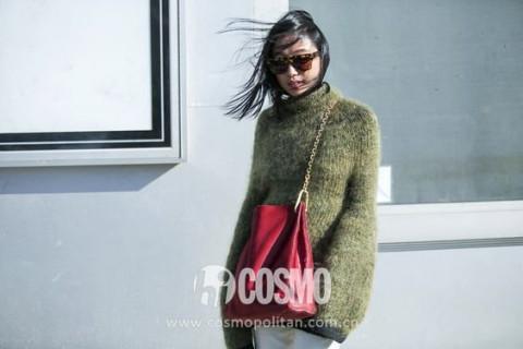 赵丽颖穿彩色毛衣后我也想买件!