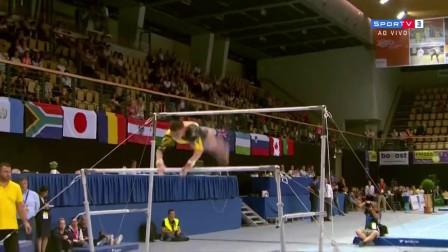 2017年 松博特海伊站 决赛 Laura Jurca ROU 高低杠