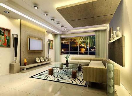 现代欧式风格电视背景墙 炫酷客厅