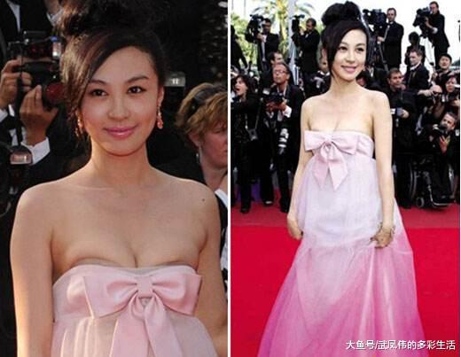 刘涛戛纳红毯超美却没人拍, 巩俐女皇待遇, 两分钟官方镜头加清场