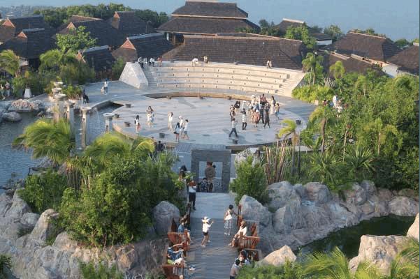 海南三亚暖色风景图