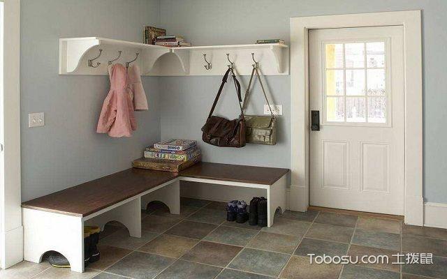 这一款则相对简单一些,利用拐角的位置设计出了鞋柜和挂衣架,而且鞋柜图片