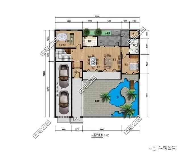 占地约110平方,也是闲着农村宅基地很容易批下来的户型.