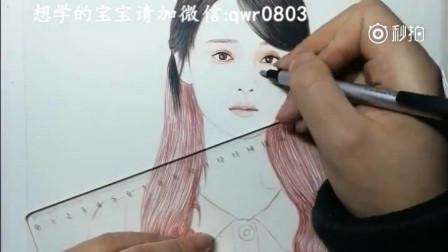 打开 素描手绘迪丽热巴,画的好漂亮哇!喜欢她就把她画出来吧!