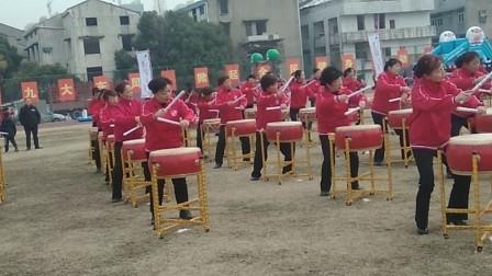 汉阳区三百人欢天喜地同练威风锣鼓迎狗年