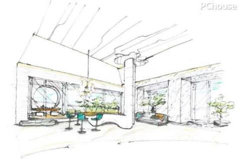 女儿房与庭院手绘图  [进入具体空间赏析] 点击加载图片 玄关设计