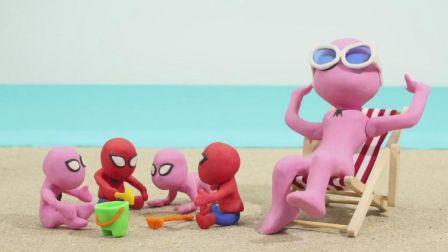 小猪佩奇和鳄鱼先生一起拆12色彩泥桶制作小动物亲子