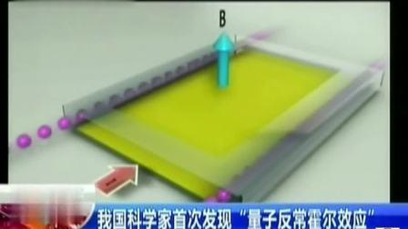 """中国科学家全球首次发现""""量子反常霍尔效应"""""""