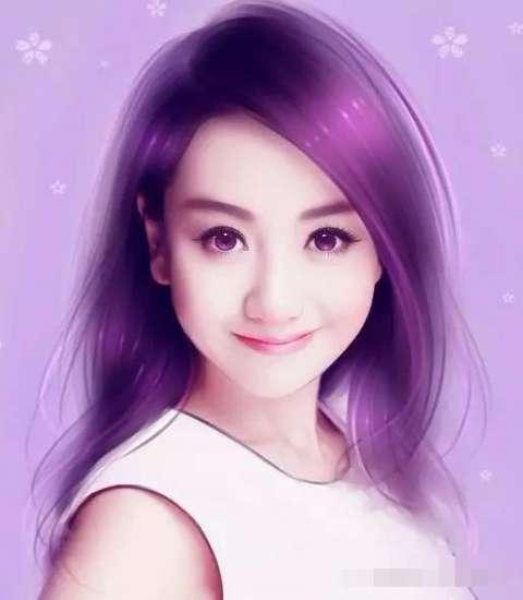 女星手绘水彩图与本尊长相如粘贴复制, 陈妍希幸福 唐嫣最像!