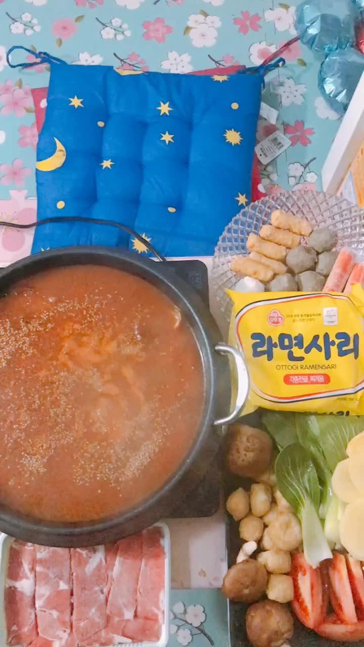 好吃的韩式年糕火锅,下下個视频有教程哦!