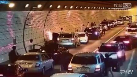 感人!在韩国一条车水马龙的隧道里突发交通事故然后...