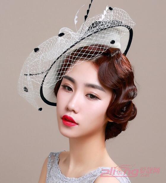 欧式复古网纱帽子戴的优雅更洋气