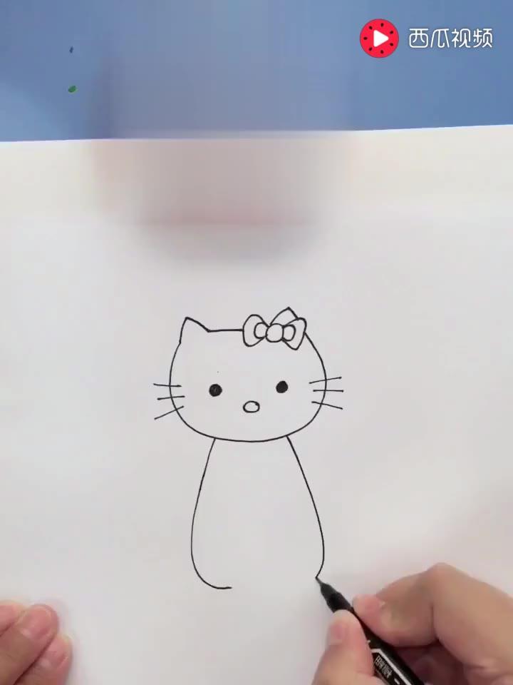 土豆简笔画彩绘