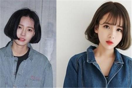 这种短发剪了之后就会非常艳,特别修饰脸型,脸大的女孩子也可以尝试图片
