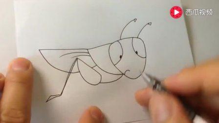 小兔子简笔画 打开 儿童简笔画系列蚂蚱的画 打开 一吻定情,王子变