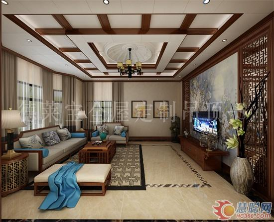 德莱宝新中式全屋吊顶装修案例, 美艳到家!图片